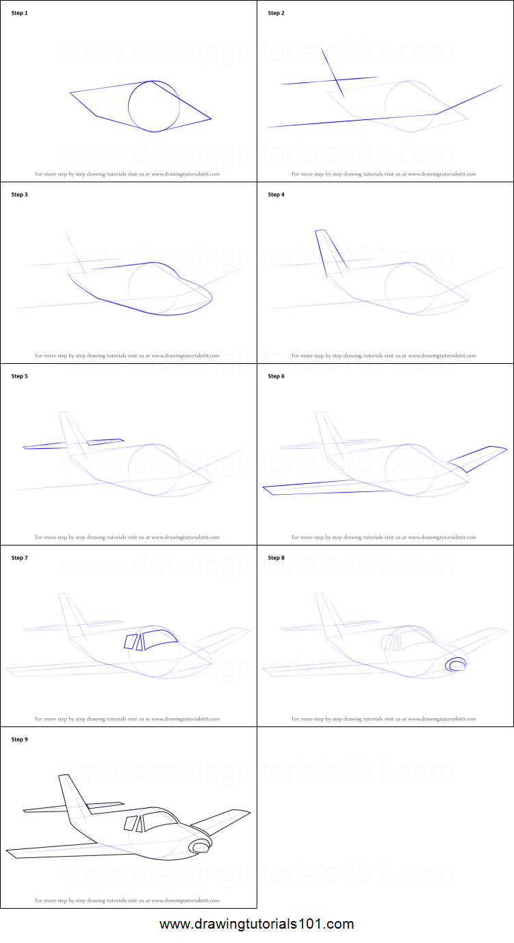 how to draw airplane sketch printable step by step drawing sheet