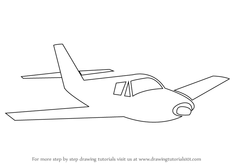 Learn How To Draw Airplane Sketch Airplanes Step By Step Drawing