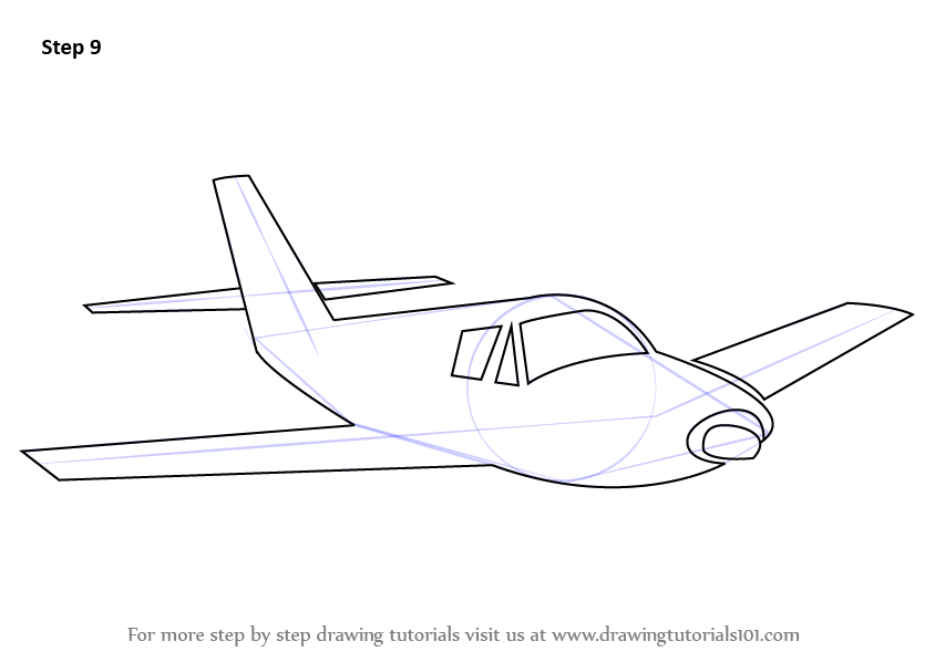 How To Draw A Easy Jet Plane