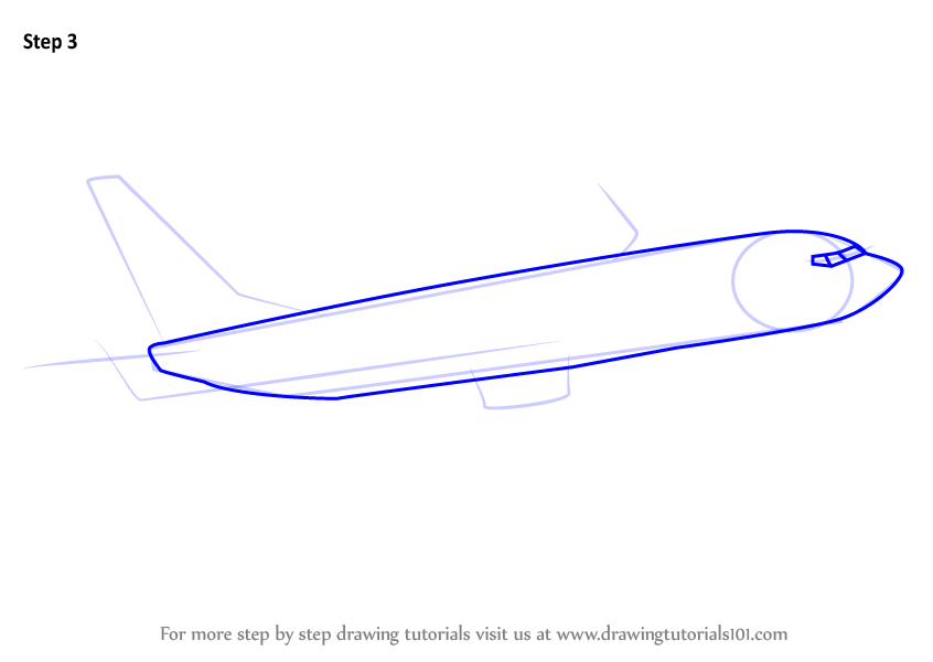 Learn How to Draw a Boeing 737 (Airplanes) Step by Step ...