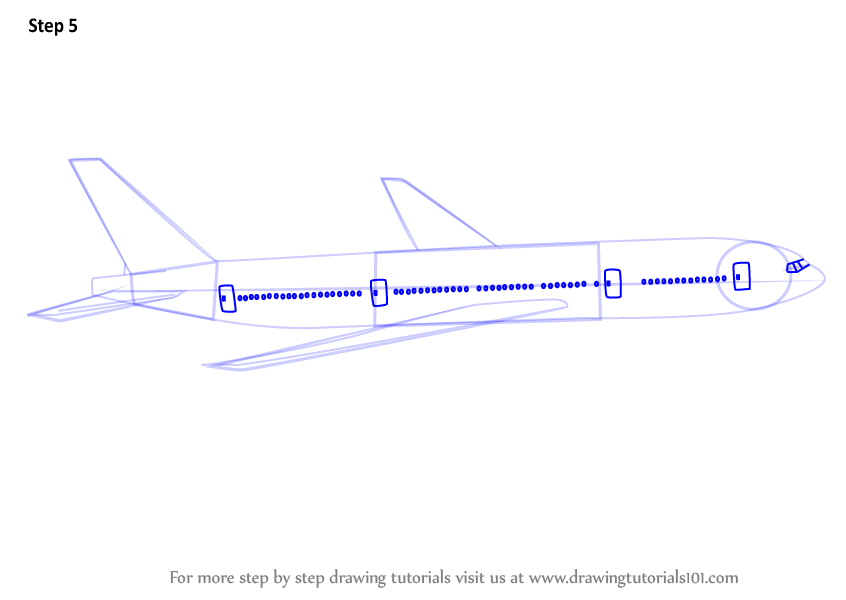 how to draw commercial airplanes