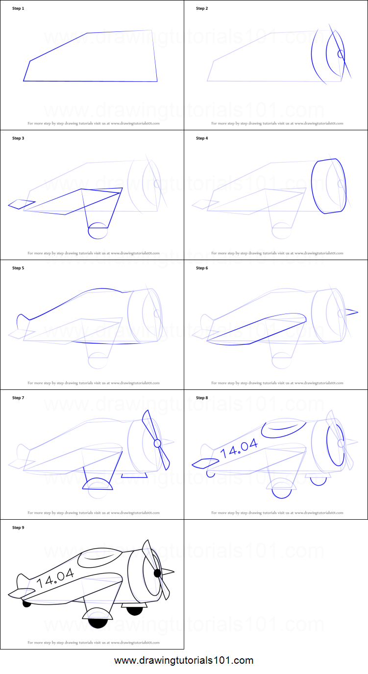 how to draw cartoon fighter aeroplane printable step by step drawing sheet drawingtutorials101com