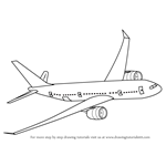 How to Draw Flying Boeing Aeroplane
