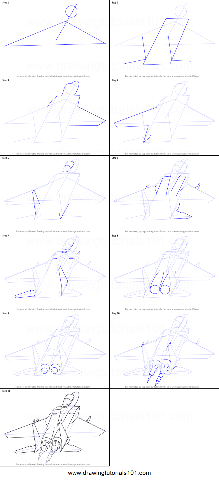 How To Draw A Jet Plane Printable Step By Step Drawing Sheet Drawingtutorials101 Com