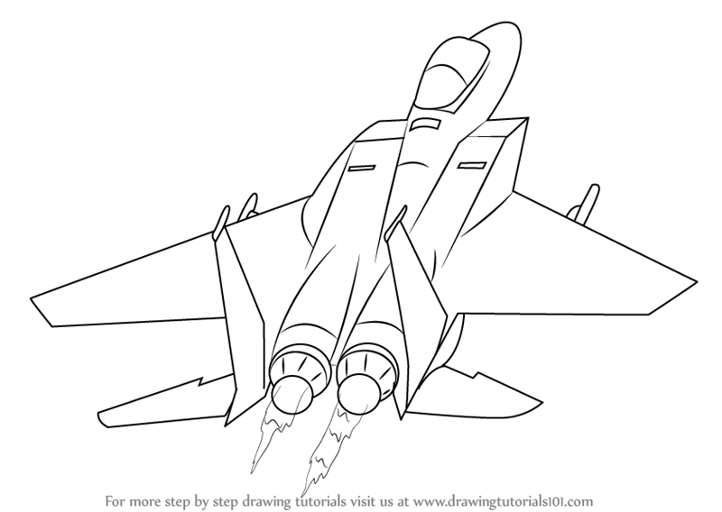 Learn How To Draw A Jet Plane Airplanes Step By Step Drawing