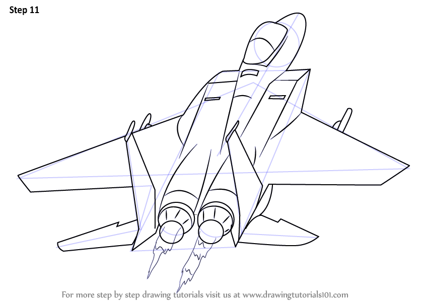 Line Drawing Jet : Learn how to draw a jet plane airplanes step by