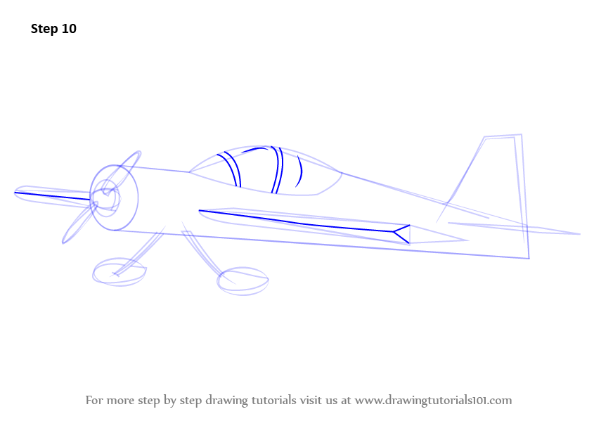 how to draw aeroplane easy