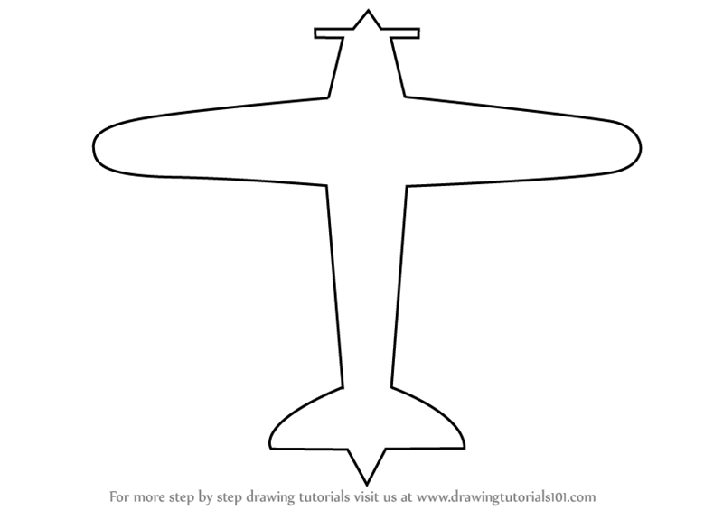 learn how to draw a simple aeroplane airplanes step by step drawing tutorials
