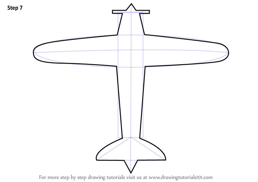Learn How To Draw A Simple Aeroplane Airplanes Step By