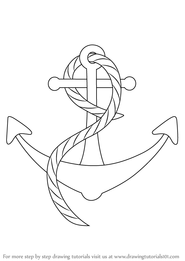 learn how to draw a boat anchor boats and ships step by step drawing tutorials