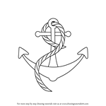 How to Draw a Boat anchor