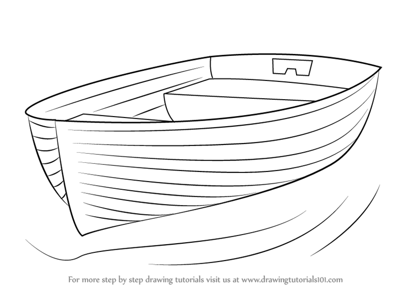 Line Drawing Boat : Learn how to draw boat at dock boats and ships step by