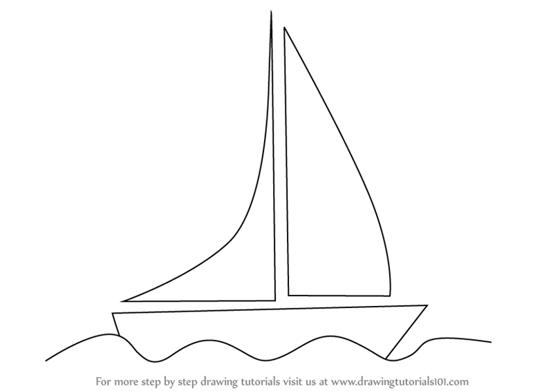 learn how to draw a boat for kids boats and ships step by step drawing tutorials