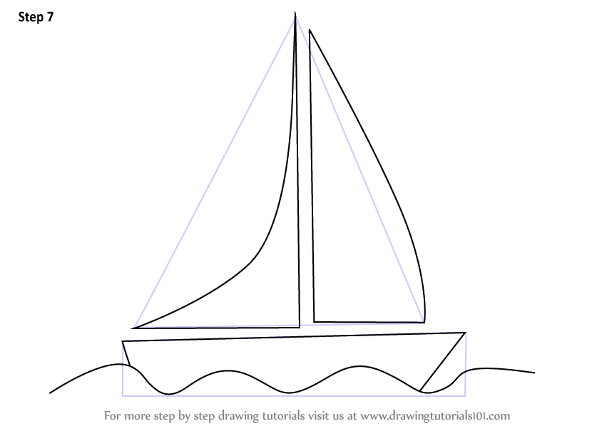 Learn How To Draw A Boat For Kids Boats And Ships Step By Step