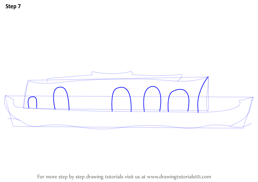 how to draw a viking ship step by step