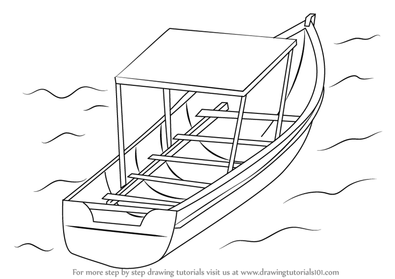 learn how to draw boat in water boats and ships step by step drawing tutorials