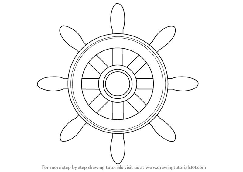 learn how to draw a boat wheel boats and ships step by step drawing tutorials