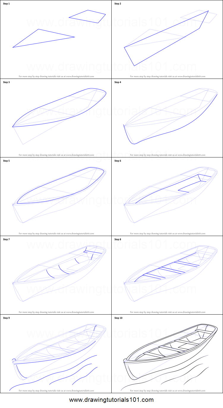 how to draw a boat printable step by step drawing sheet drawingtutorials101com