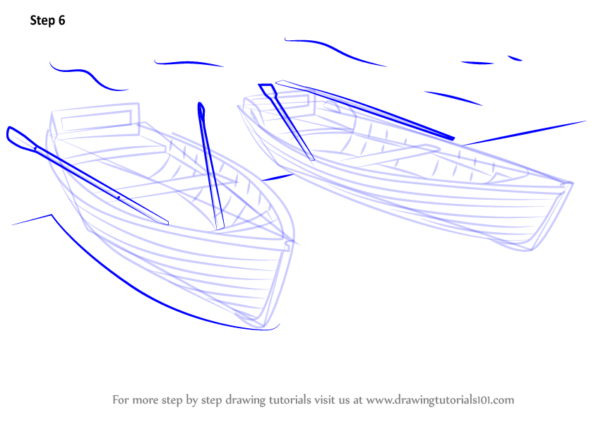 How To Draw A Boat Step By Step For Kids