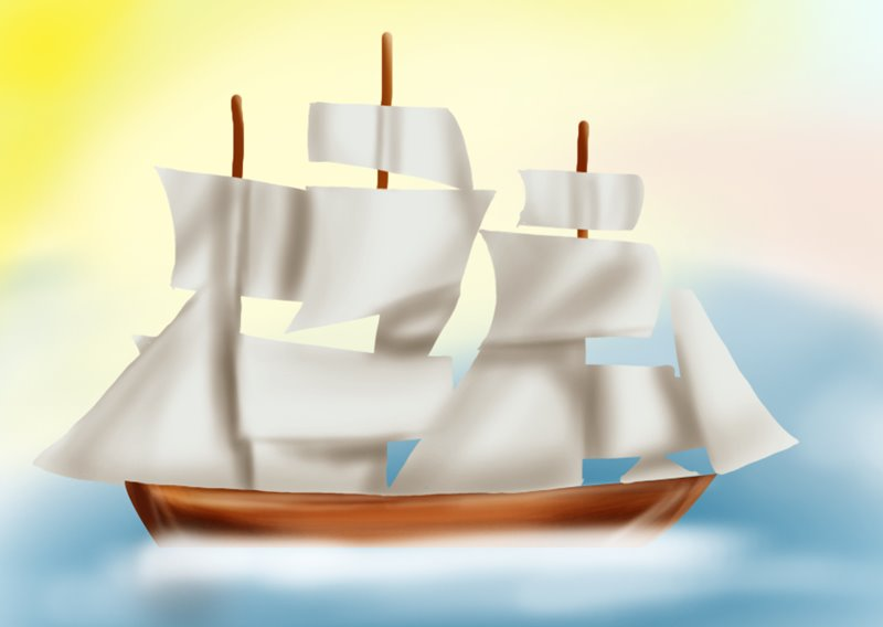 Step By Step How To Draw A Ship For Kids