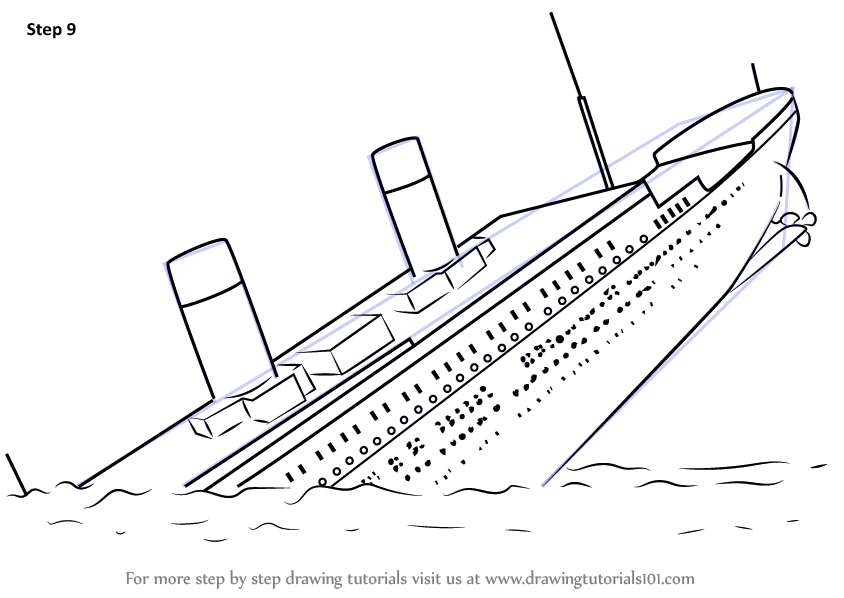 Learn How to Draw Titanic Sinking