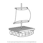 How to Draw a Wooden Raft