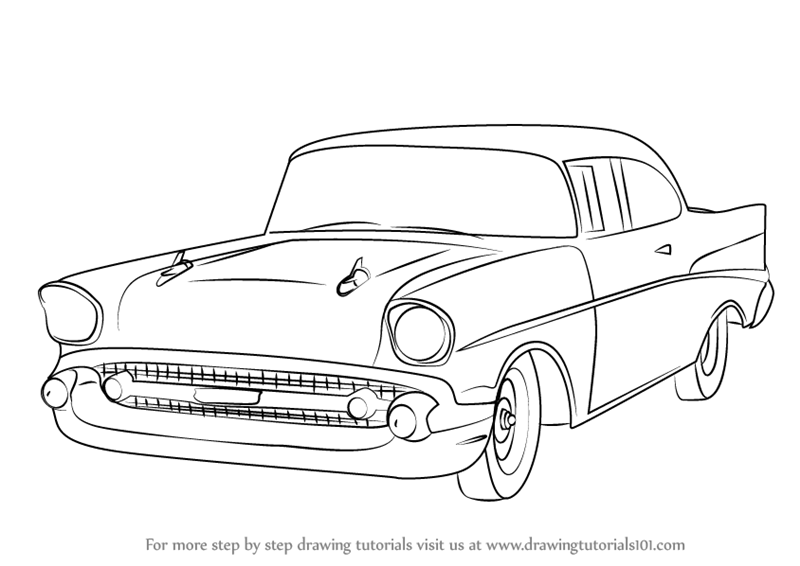 Learn How to Draw a 1957 Chevy