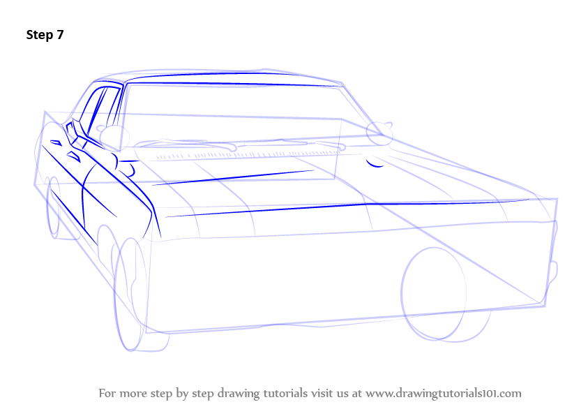 How To Draw Chevy Impala Step
