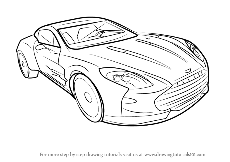 how to draw Aston Martin One 77 step 0