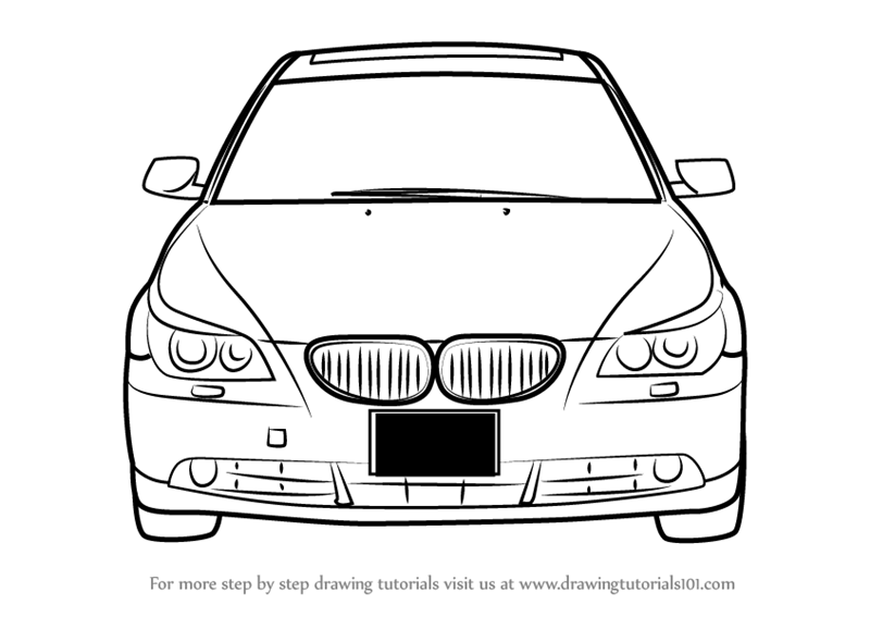 Learn how to draw car front view cars step by step drawing tutorials