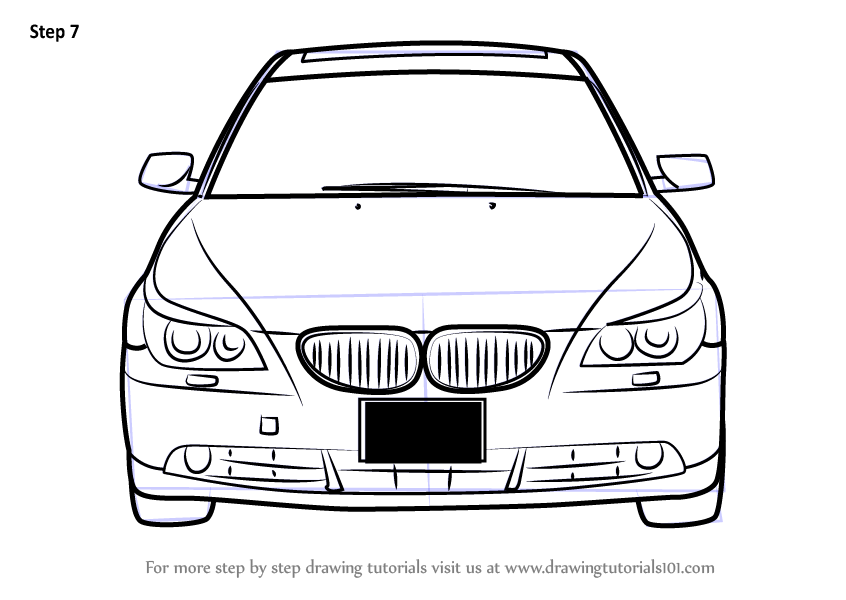learn how to draw car front view  cars  step by step