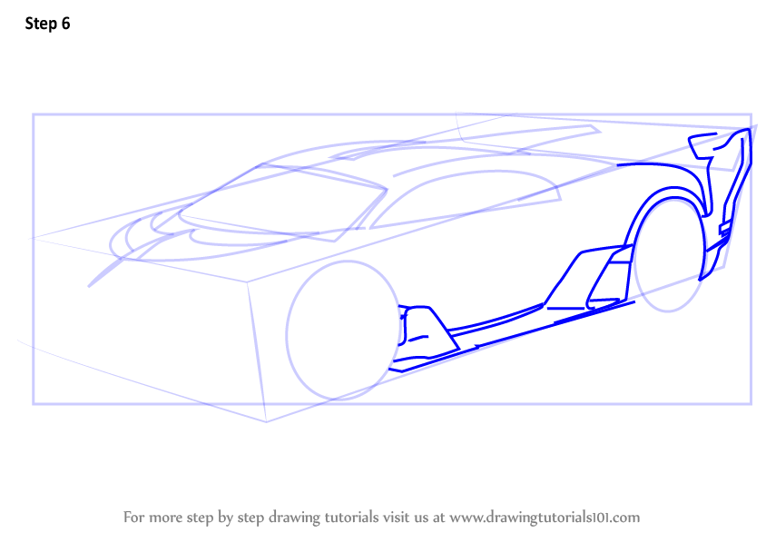 Learn How to Draw Bugatti Vision Gran Turismo (Concept Cars) Step by on