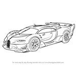 How to Draw Bugatti Vision Gran Turismo