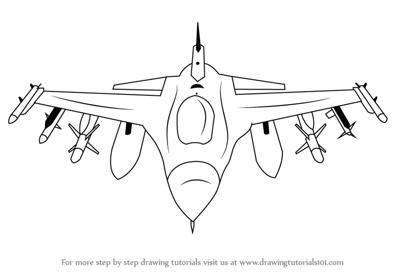 learn how to draw f16 fighting falcon fighter jets step by step drawing tutorials