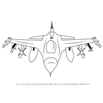 How to Draw F16 Fighting Falcon