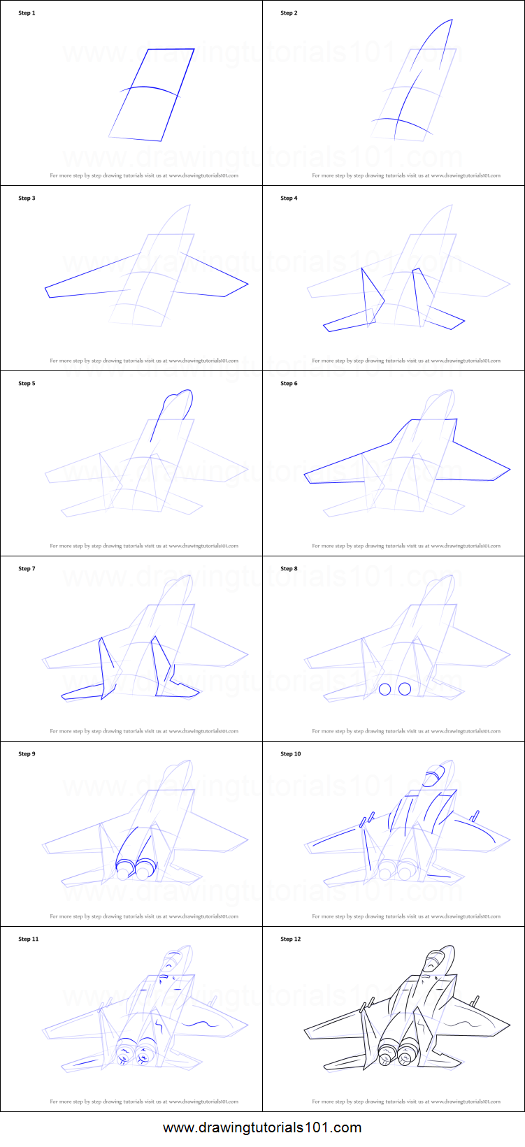 how to draw fighter jet aircraft