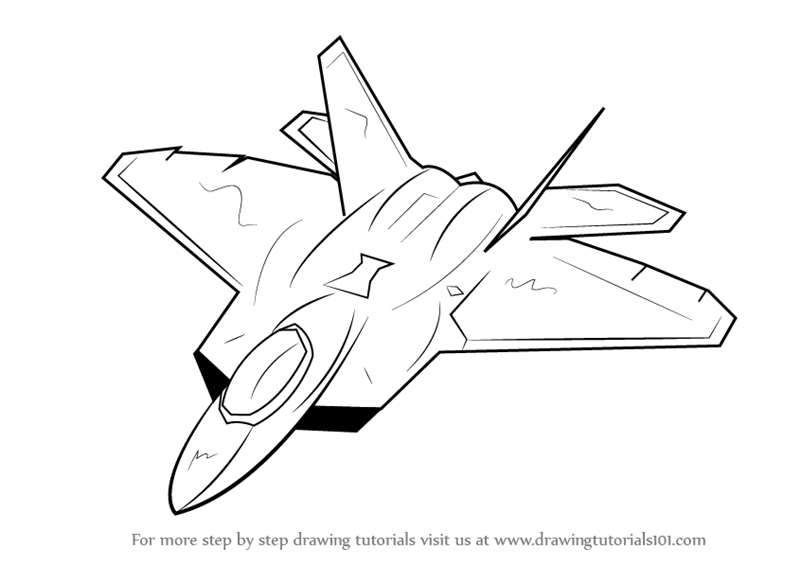 Line Drawing Jet : Learn how to draw lockheed martin f raptor fighter