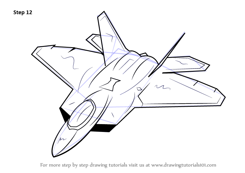 Learn How To Draw Lockheed Martin F 22 Raptor Fighter