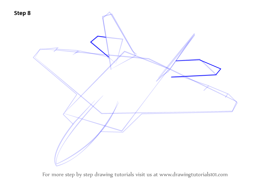 How to Draw Lockheed Martin F22 Raptor step by step learn drawing by this tutorial for kids and adults