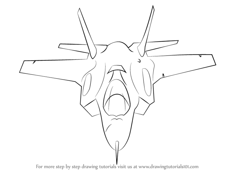 learn how to draw lockheed martin f 35 lightning ii fighter jets step by step drawing tutorials