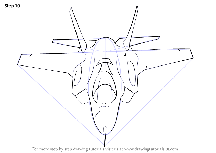 Learn How To Draw Lockheed Martin F 35 Lightning Ii Fighter Jets