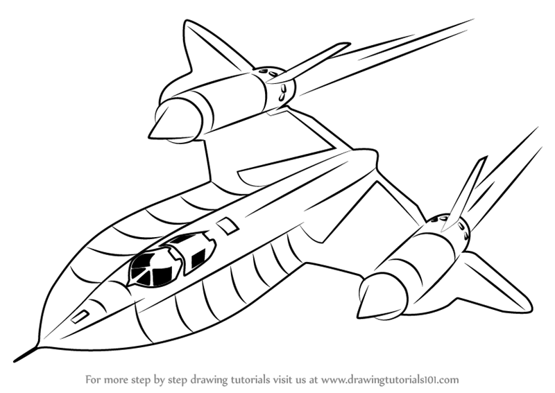 learn how to draw lockheed sr 71 blackbird fighter jets step by step drawing tutorials
