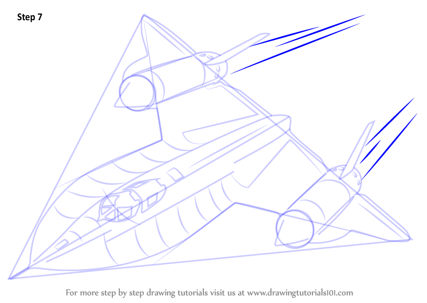how to draw a f22 raptor step by step