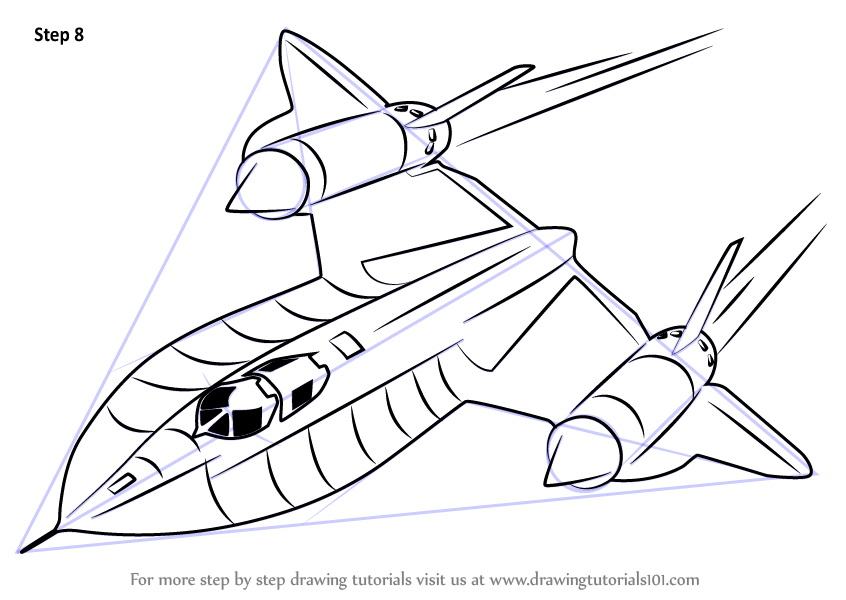 Learn How To Draw Lockheed Sr 71 Blackbird Fighter Jets