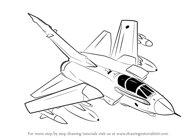 learn how to draw panavia tornado aircraft rb199 jet  fighter jets  step by step   drawing tutorials
