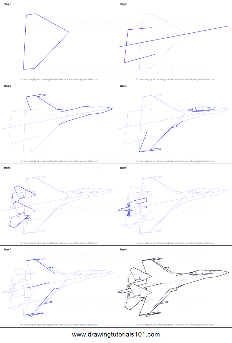 How to draw sukhoi su 35 printable step by step drawing for How to make doodle art