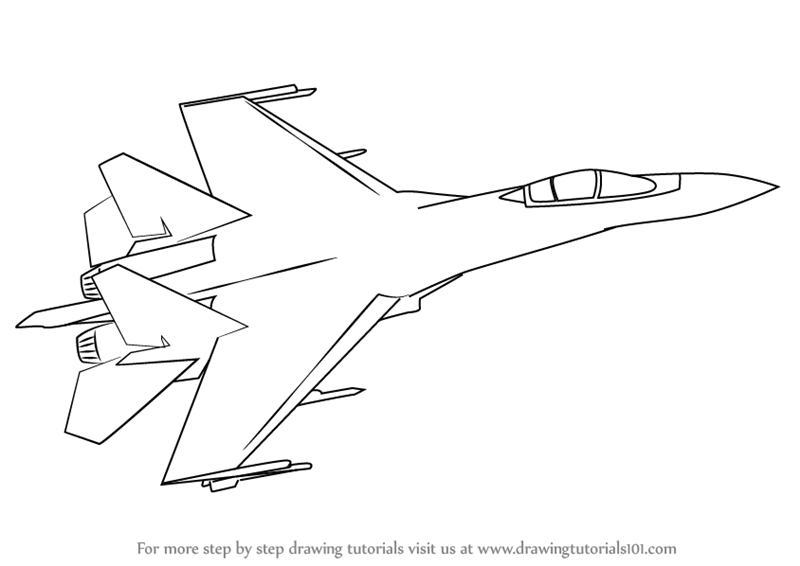 learn how to draw sukhoi su 35 fighter jets step by step drawing tutorials