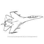 How to Draw Sukhoi SU-35
