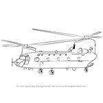 How to Draw a Boeing CH-47 Chinook Helicopter