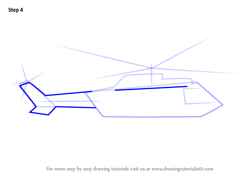 Step by Step How to Draw Military Helicopter Easy ...
